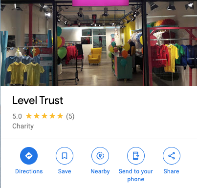 Level Trust Google My Business listing on Google Maps