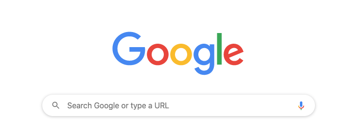 Screenshot of the Google search page