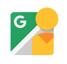 Icon for the Google Street View app.