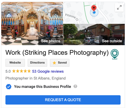 Example of Google Knowledge Panel